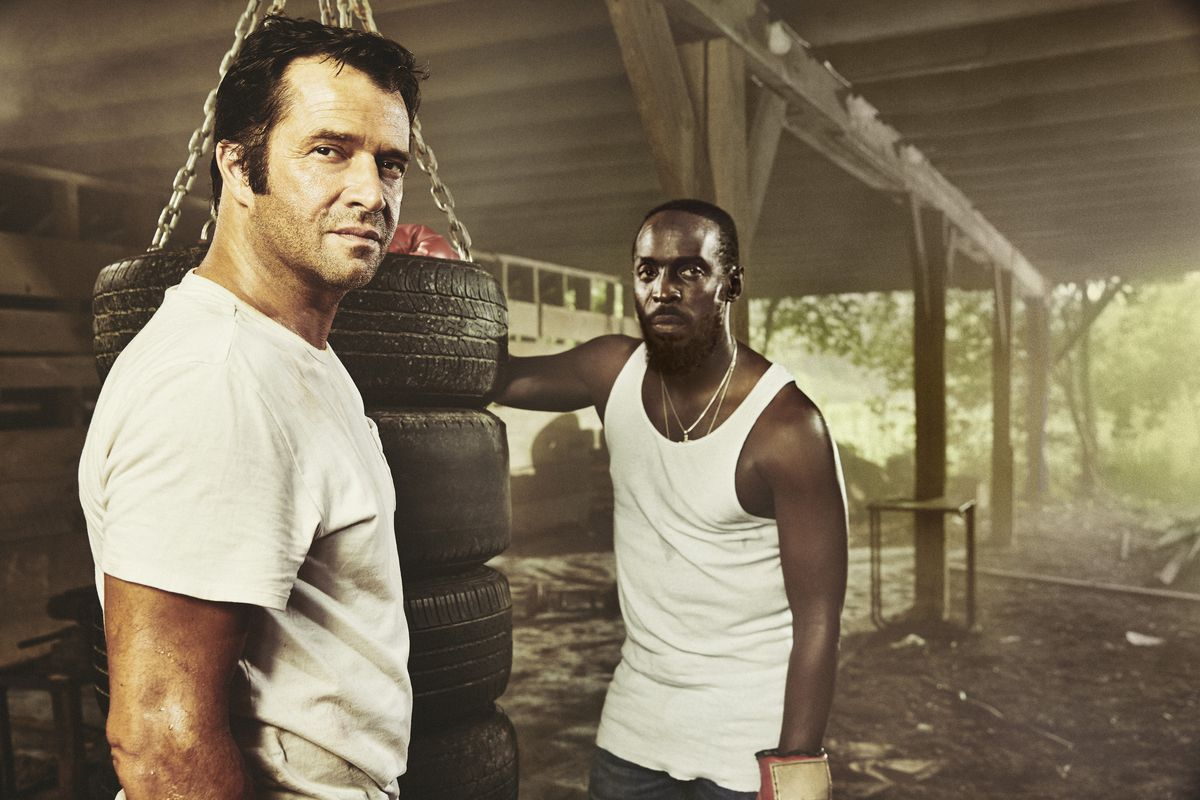 James Purefoy (left) and Michael K. Williams star as '80s cowboys in Hap and Leonard.