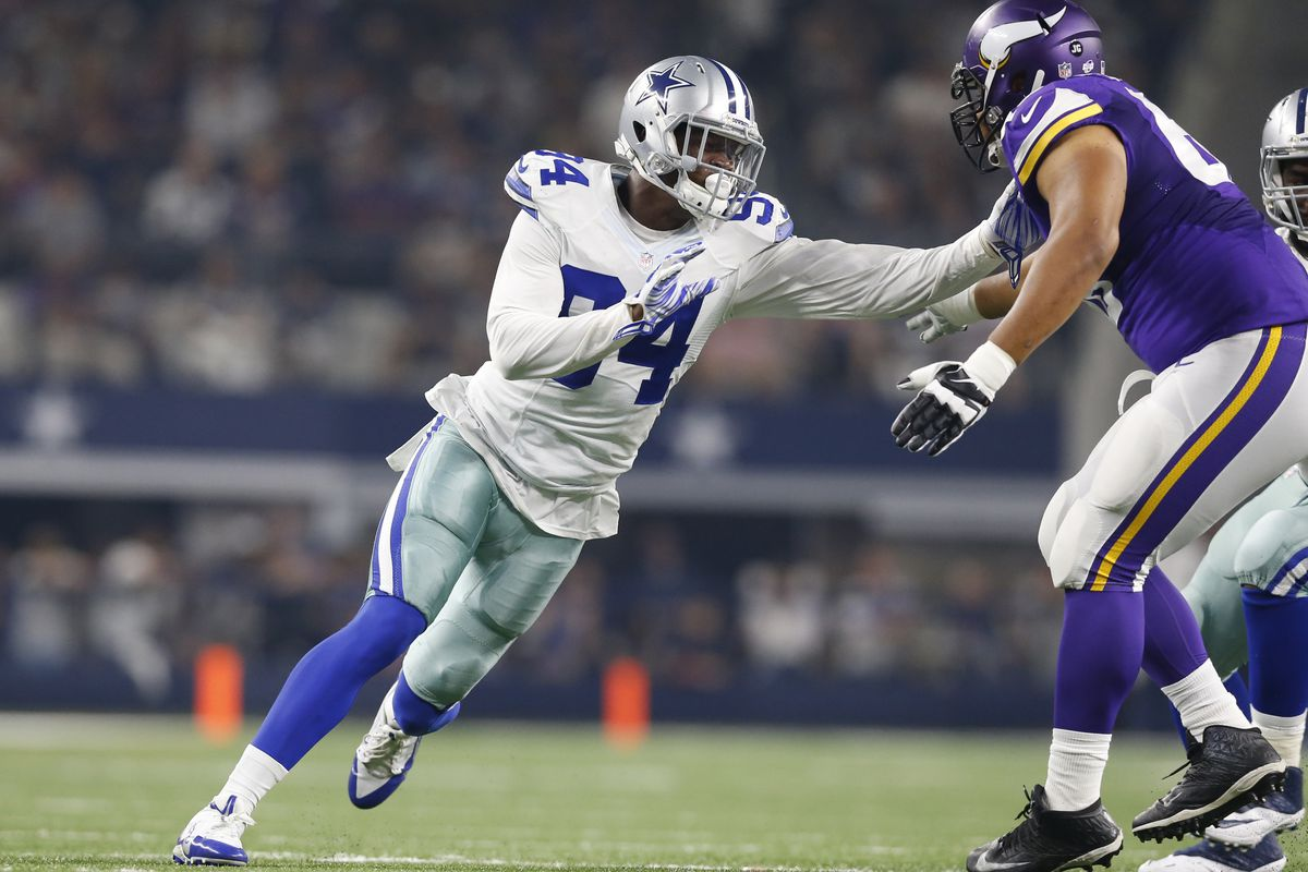 Randy Gregory (left) has been suspended by the NFL.