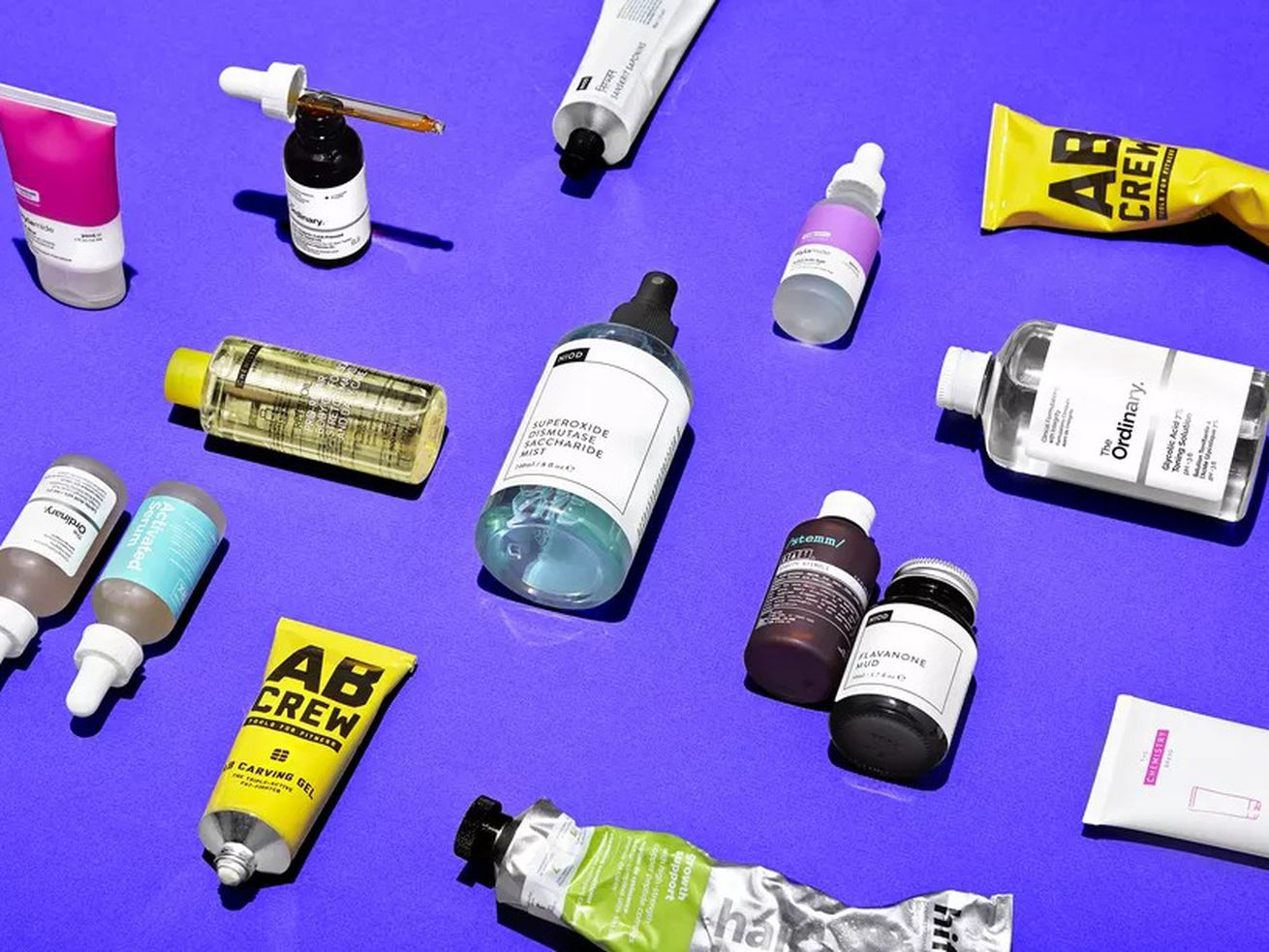 An assortment of products from several Deciem brands.