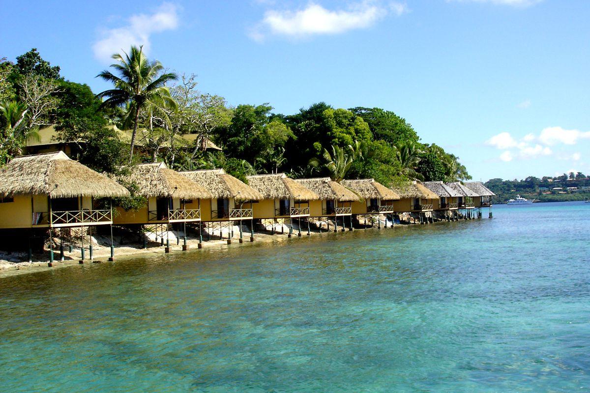 Iririki Island, a resort island in Vanuatu.