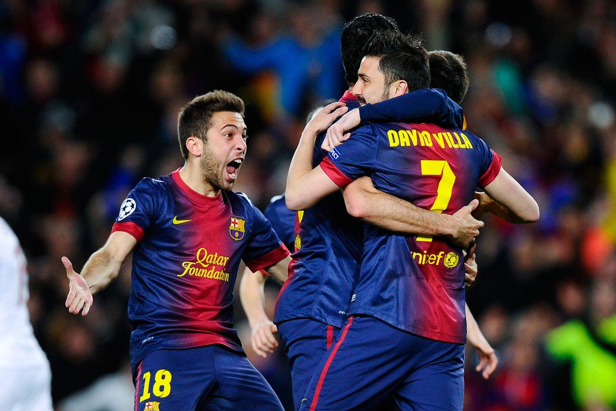 Barcelona Vs Ac Milan 2013 Uefa Champions League Halftime Score 2 0 Messi On Fire Sbnation Com
