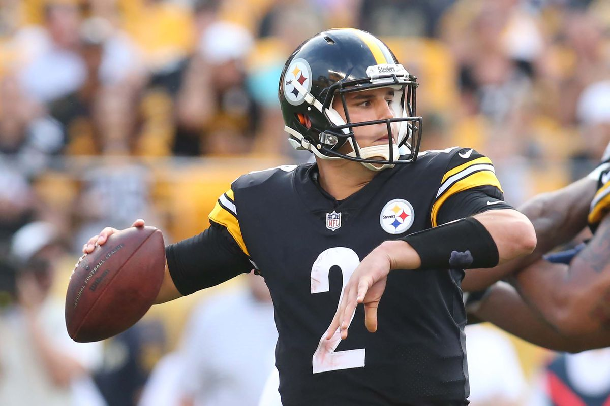 hot sale online 1dff4 57f0b Mason Rudolph ready for competition for the Steelers backup ...