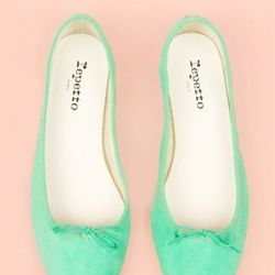 """<b>Repetto</b> BB Low-Cut Ballerina in Goatskin, $270 at <a href=""""http://www.openingceremony.us/products.asp?menuid=2&catid=16&productid=55238"""">Opening Ceremony</a>."""