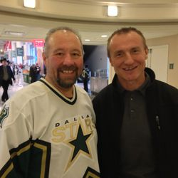 Me with the great Jere Lehtinen. Picture taken by the great Bob Bassen.