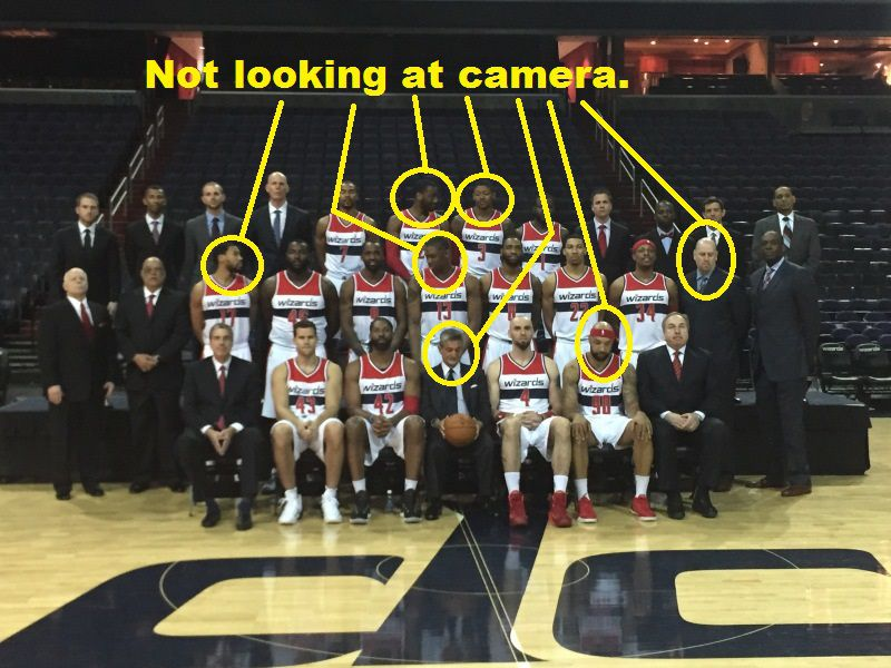 Not looking team photo