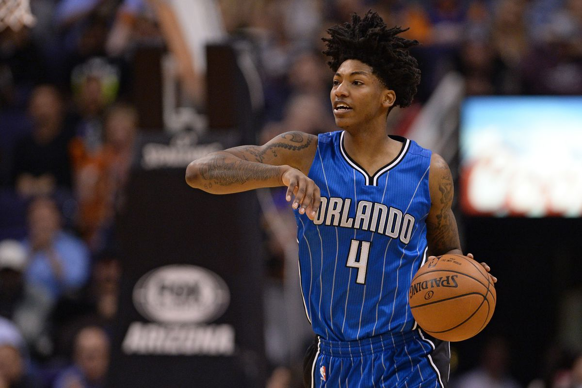 Orlando Magic guard Elfrid Payton dribbles the basketball up the court during the second half Wednesday's game against the Phoenix Suns.