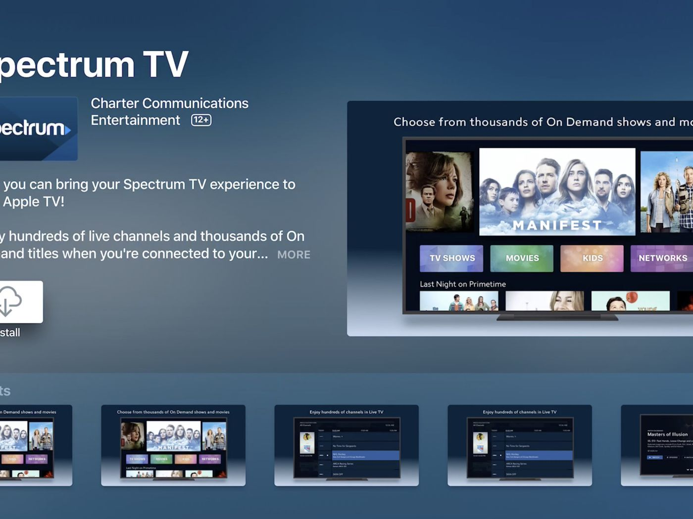 Spectrum has a streaming service that's basically its cable