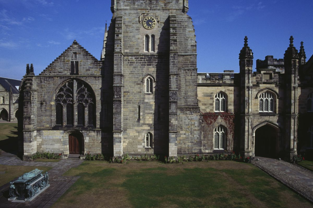 The King's College Chapel, left, Old Aberdeen