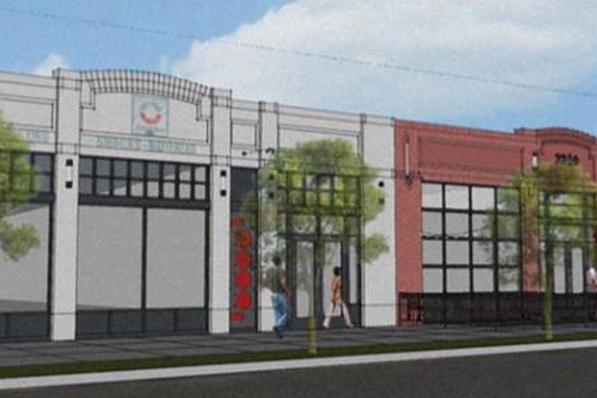 Rendering of the future Woods Boss Brewing Co.
