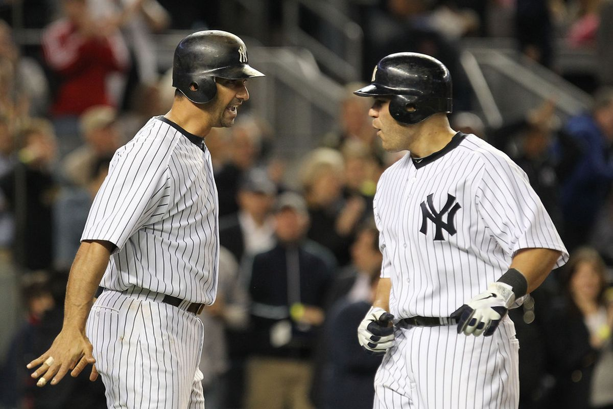 Where have you gone, Jorge Posada? A nation turns its lonely eyes to you.  (Photo by Al Bello/Getty Images)