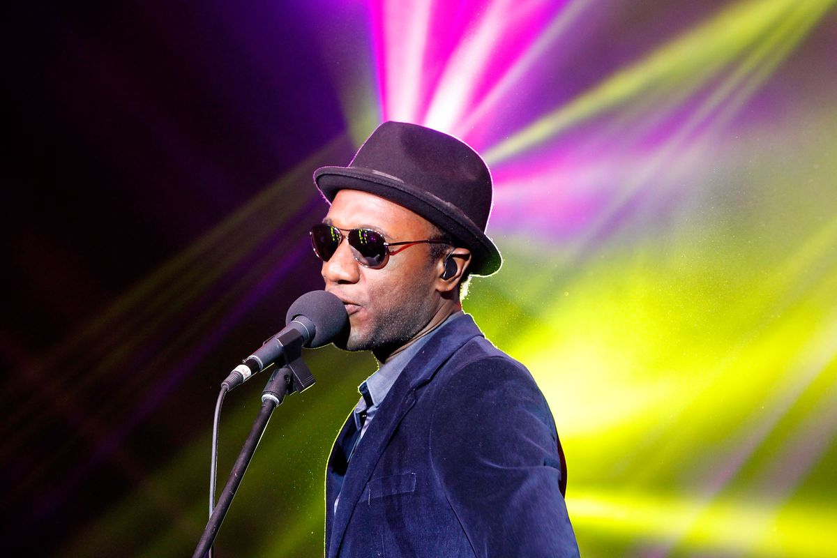 Aloe Blacc performs at IWC 'For The Love Of Cinema' Dinner And Filmmakers Award