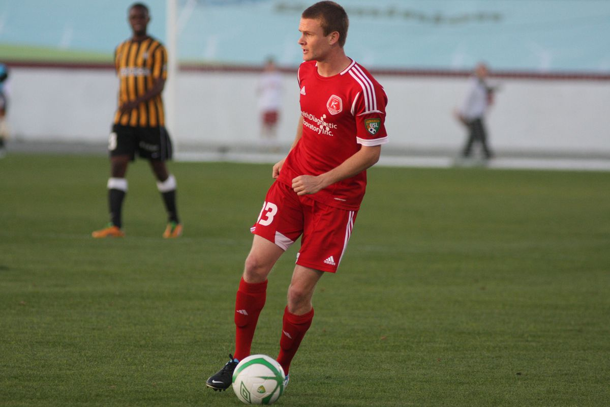 Taylor Kemp will hope to get forward against the Rochester Rhinos