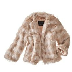 """<a href=""""http://www.target.com/p/mossimo-women-s-faux-fur-coat-light-pink/-/A-14226458?"""">Light Pink Faux Fur Jacket</a>, $34.98 at Target"""