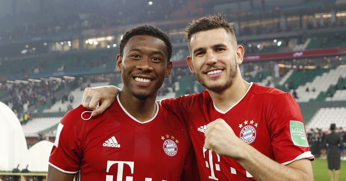 Bayern Munich's Lucas Hernandez could be headed back to the bench as David Alaba returns - Bavarian Football Works