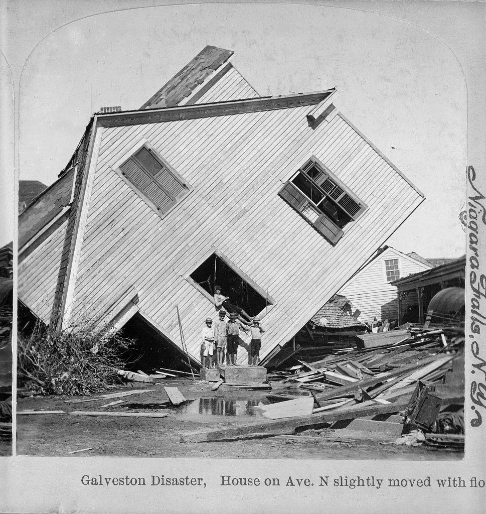 Home upturned by hurricane