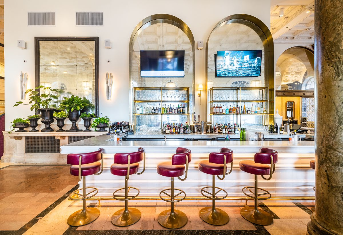 Bar seating at Cafe Riggs