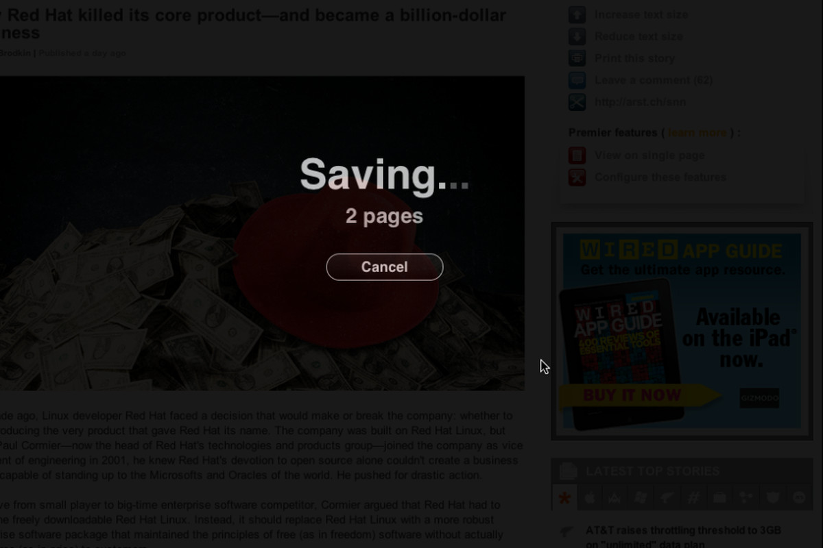 Instapaper bookmarklet update multi page