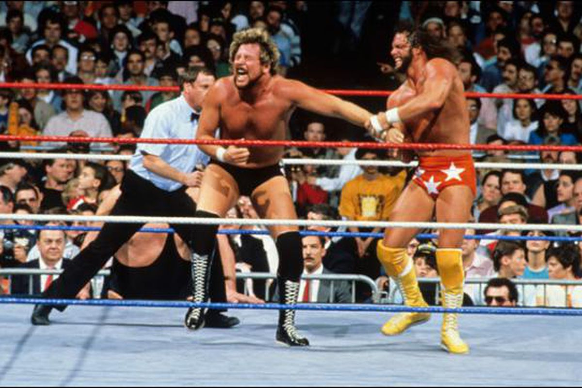 Image result for randy savage vs ted dibiase