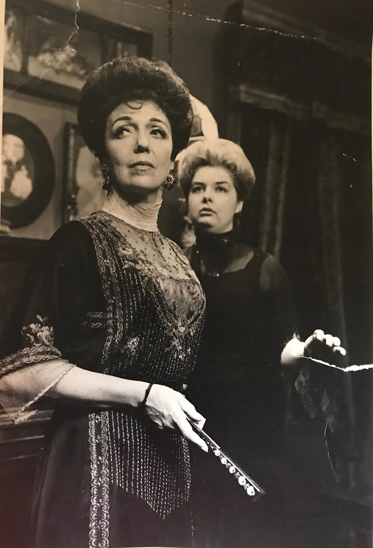 """Jane Galloway Heitz (background) starred in an Old Town Players production of """"The Little Foxes."""""""