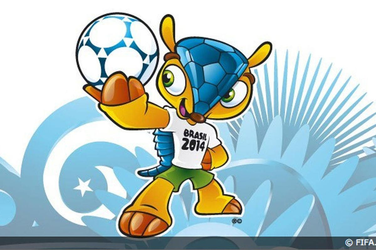 This image posted on the FIFA website Sunday Sept. 16, 2012 shows the mascot of the 2014 World Cup. The mascot is a yet to-be-named Brazilian endangered armadillo. FIFA said Brazilians will have until mid-November to choose the mascot's name from three ch