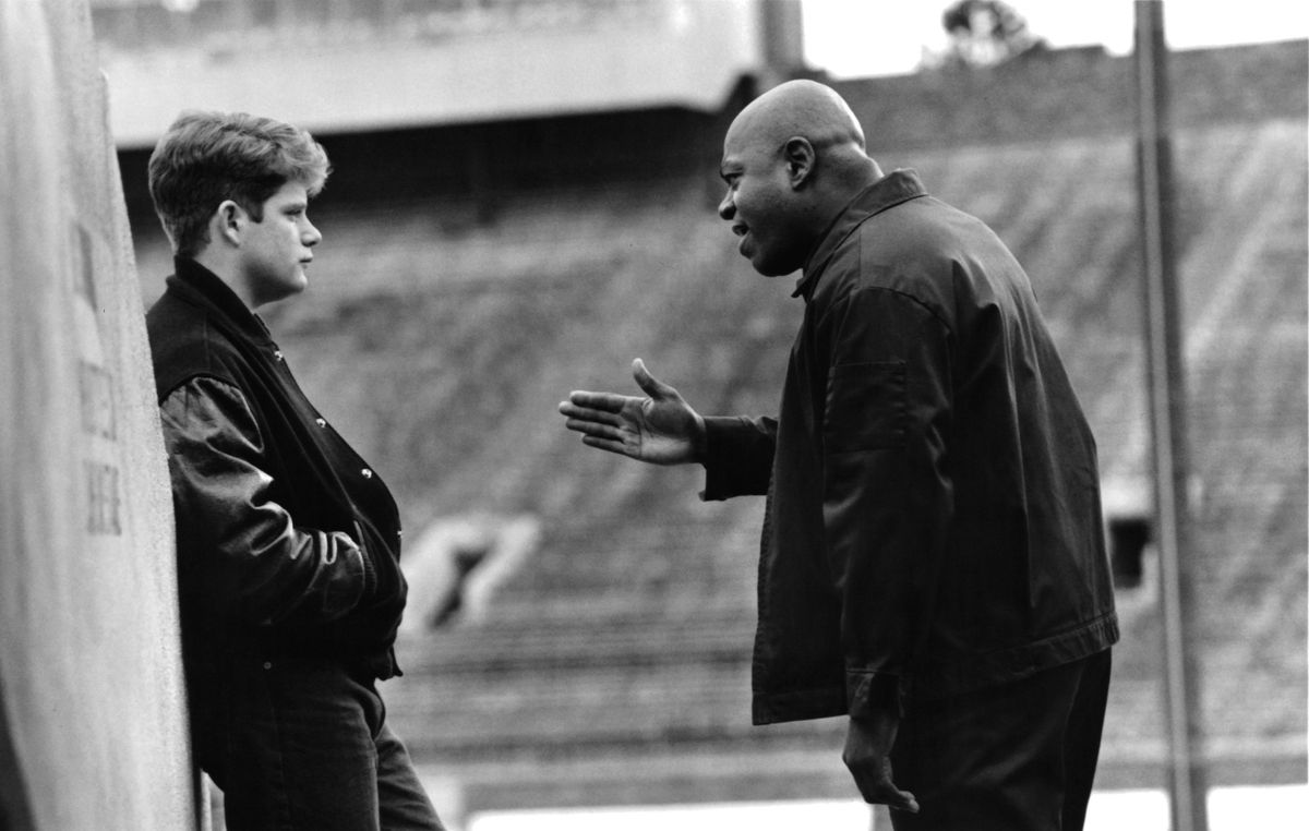 Sean Astin and Charles Dutton in 'Rudy'