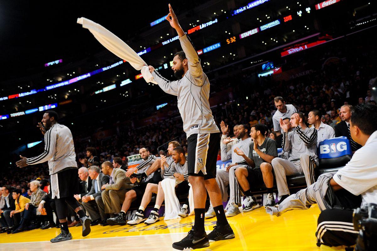 San Antonio Spurs v Los Angeles Lakers - Game Four