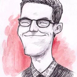 A caricature BYU undergraduate John Jackson submitted with his application to the school's competitive animation program