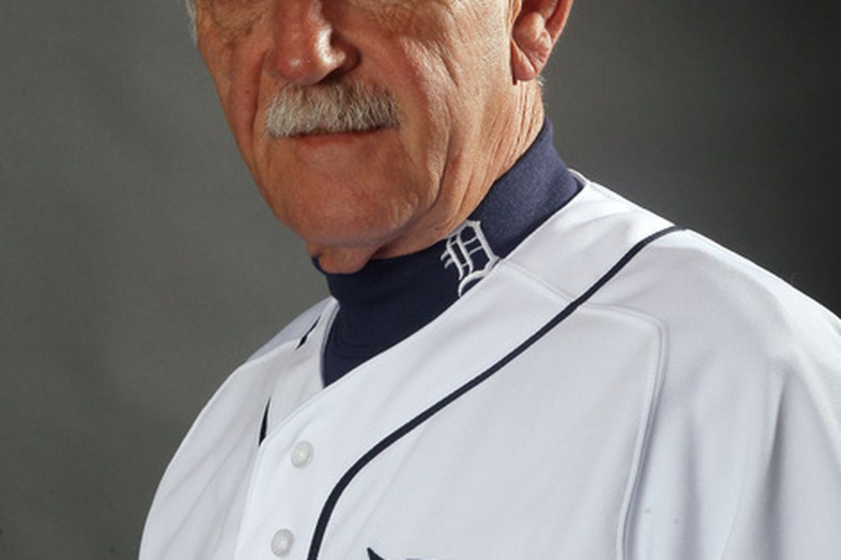 LAKELAND, FL - FEBRUARY 28:  Manager Jim Leyland #10 of the Detroit Tigers  poses for a portrait on February 28, 2012 at Joker Marchant Staduim in Lakeland, Florida.