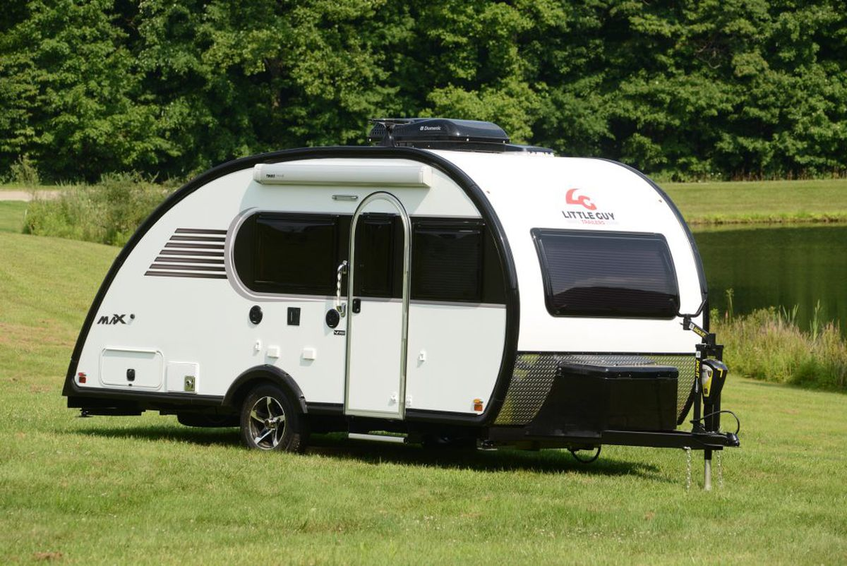 The Little Guy Max Trailer Lets You Stand Tall Despite Classic Teardrop Shape Courtesy Of Trailers
