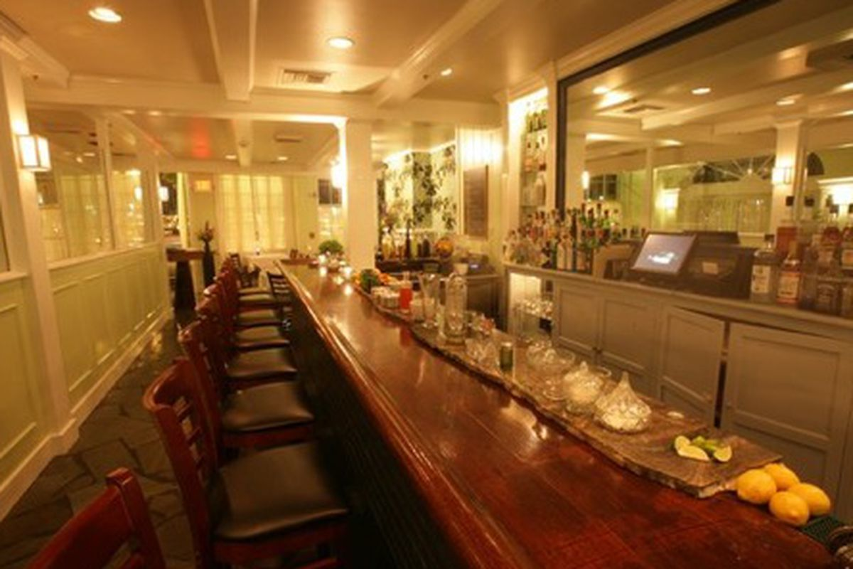 The bar at Iris.