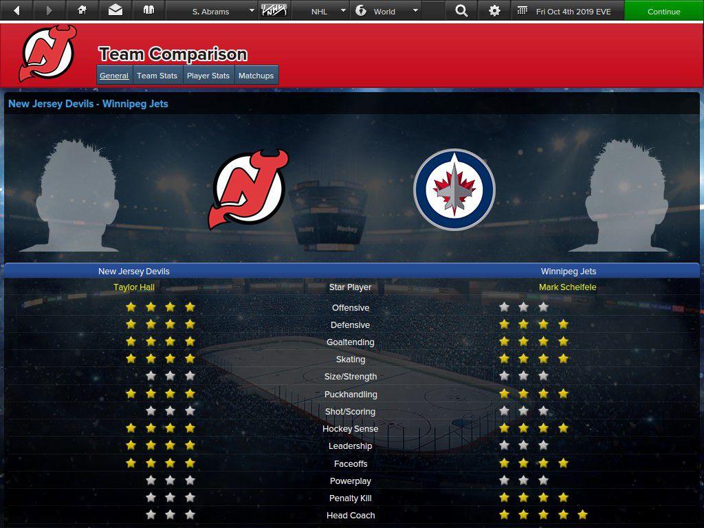 EHM Game Preview - Devils vs. Winnipeg