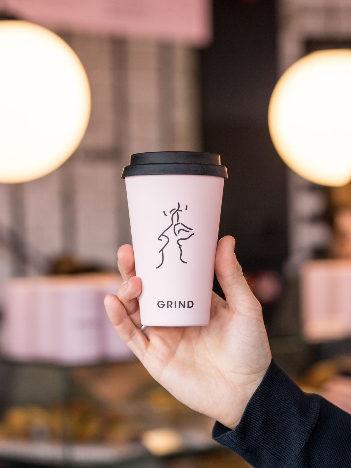 Grind coffee reusable cup merch