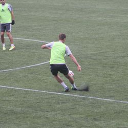 Besler plays the pivot for the green team.