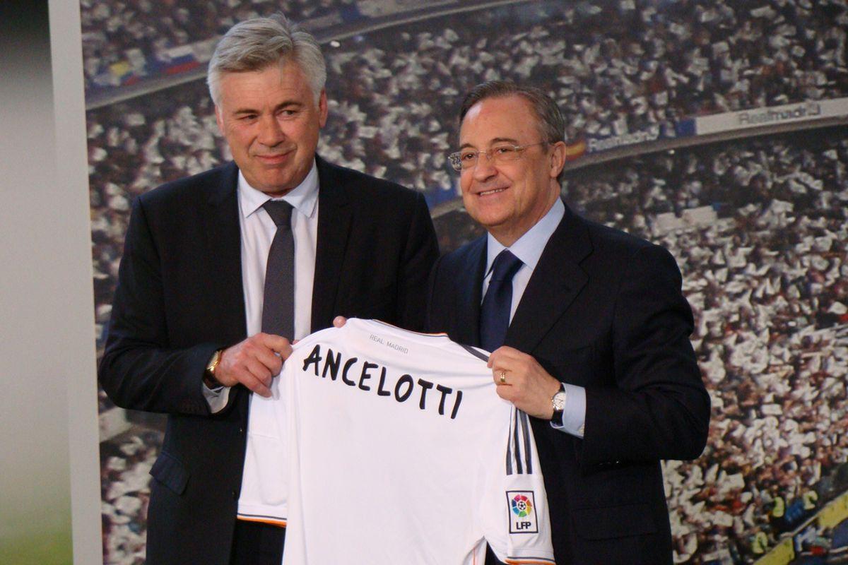 Florentino Pérez and Carlo Ancelotti