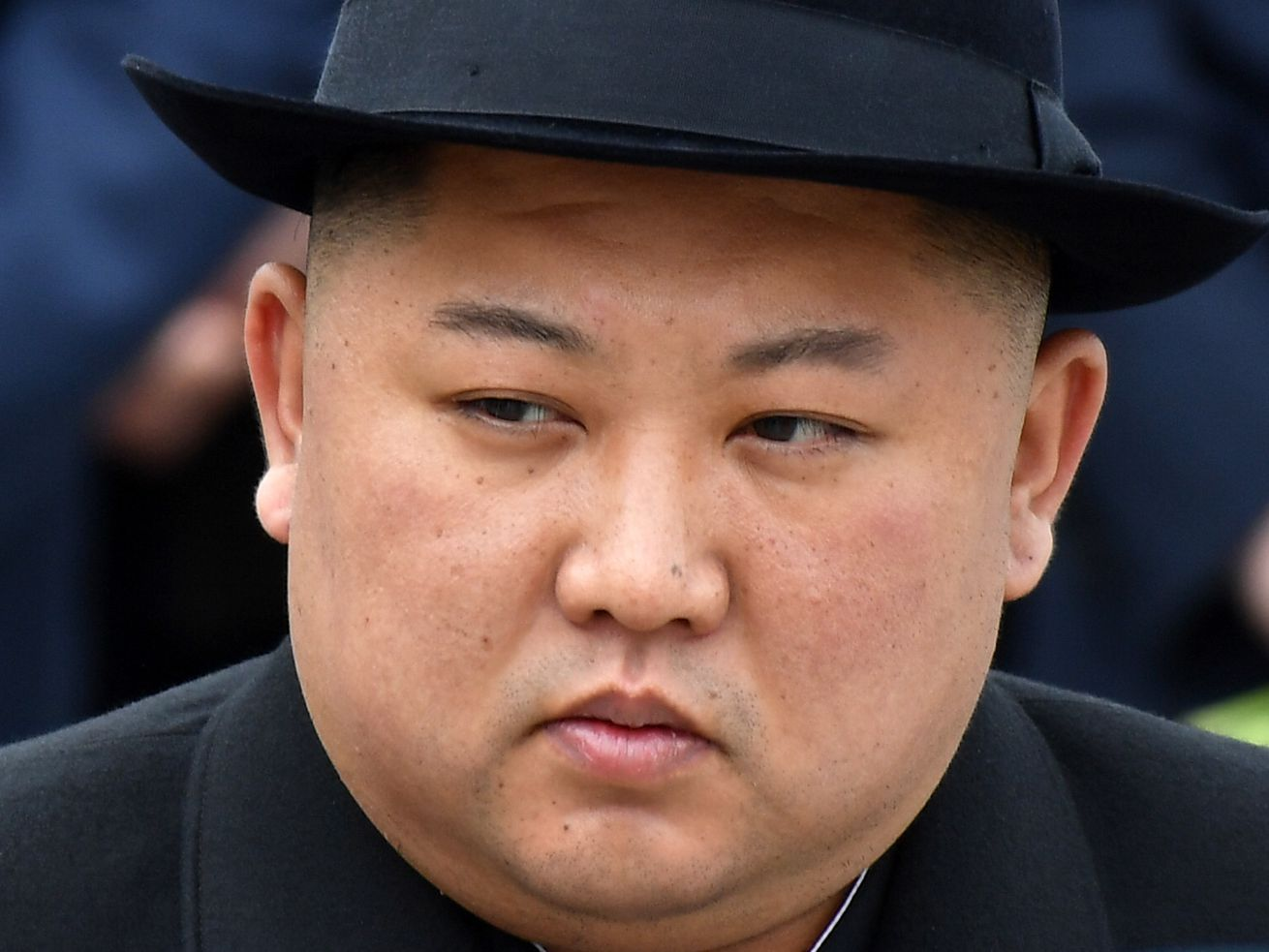 North Korean leader Kim Jong Un before his departure from a railway station in Russia on April 26, 2019.