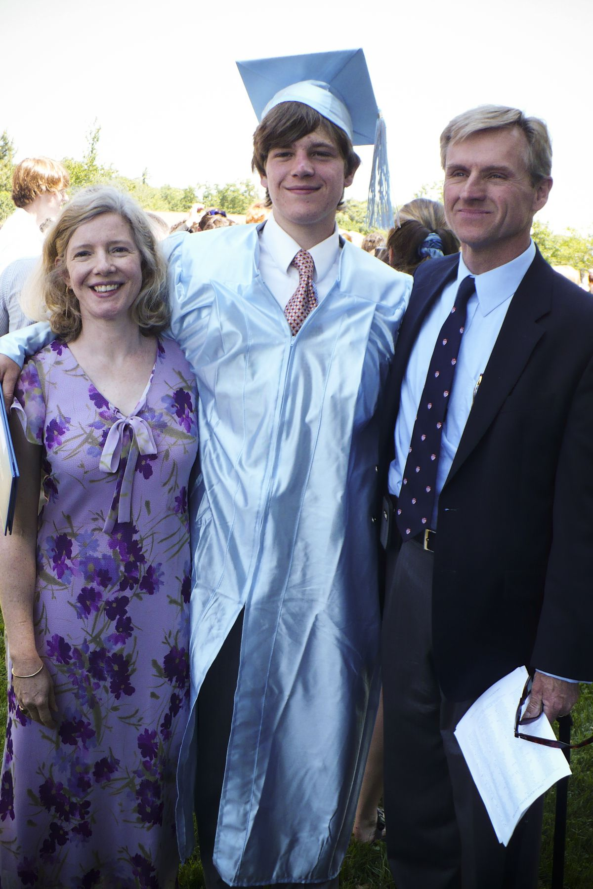Kim and Tim Blake stand with their son, Sean, during his high school graduation in 2008.
