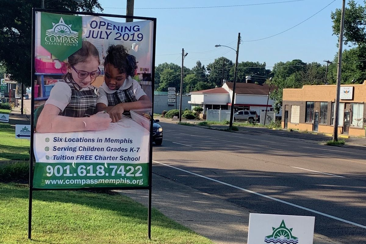 Compass Community Schools - Orange Mound opened in 2019 as one of six in the new charter school network of former private Catholic schools.