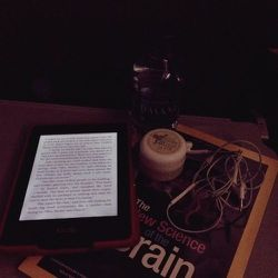 Also important: Eye mask, white noise app on my phone,water, and Kindle.