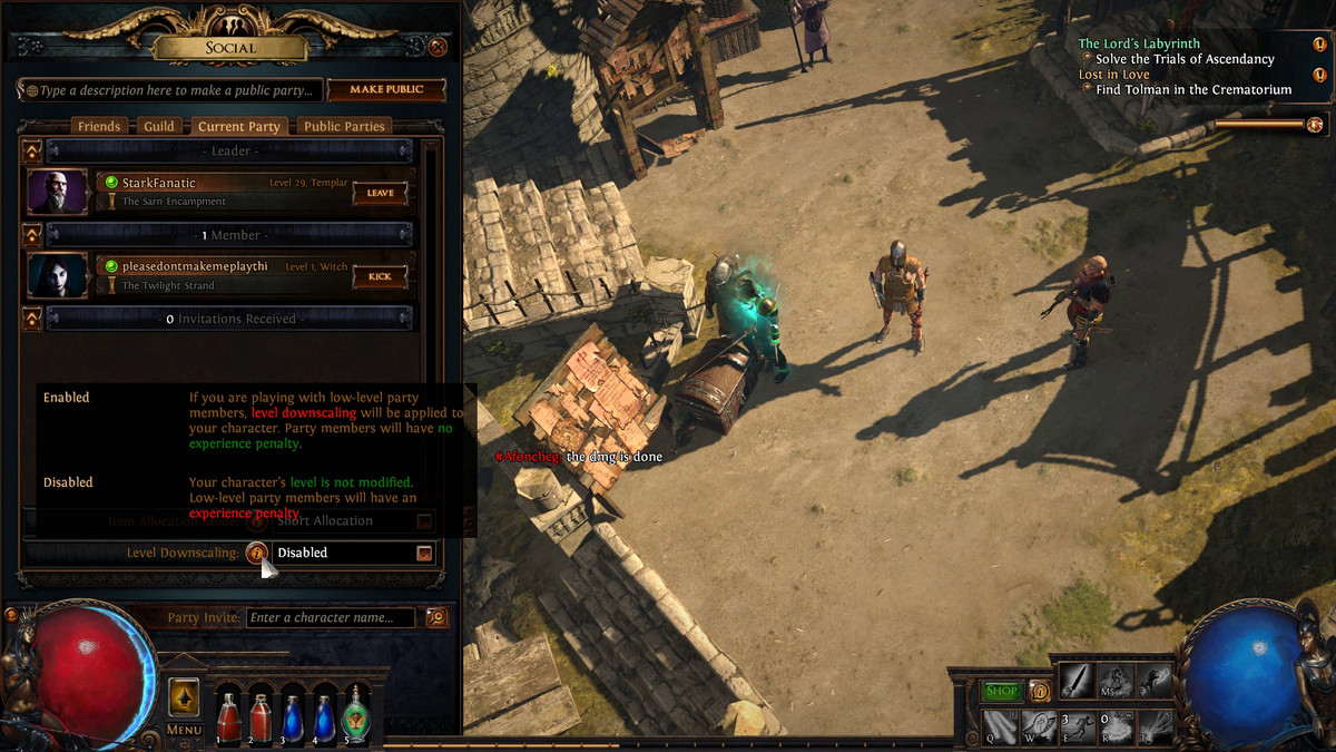 Path of Exile multiplayer