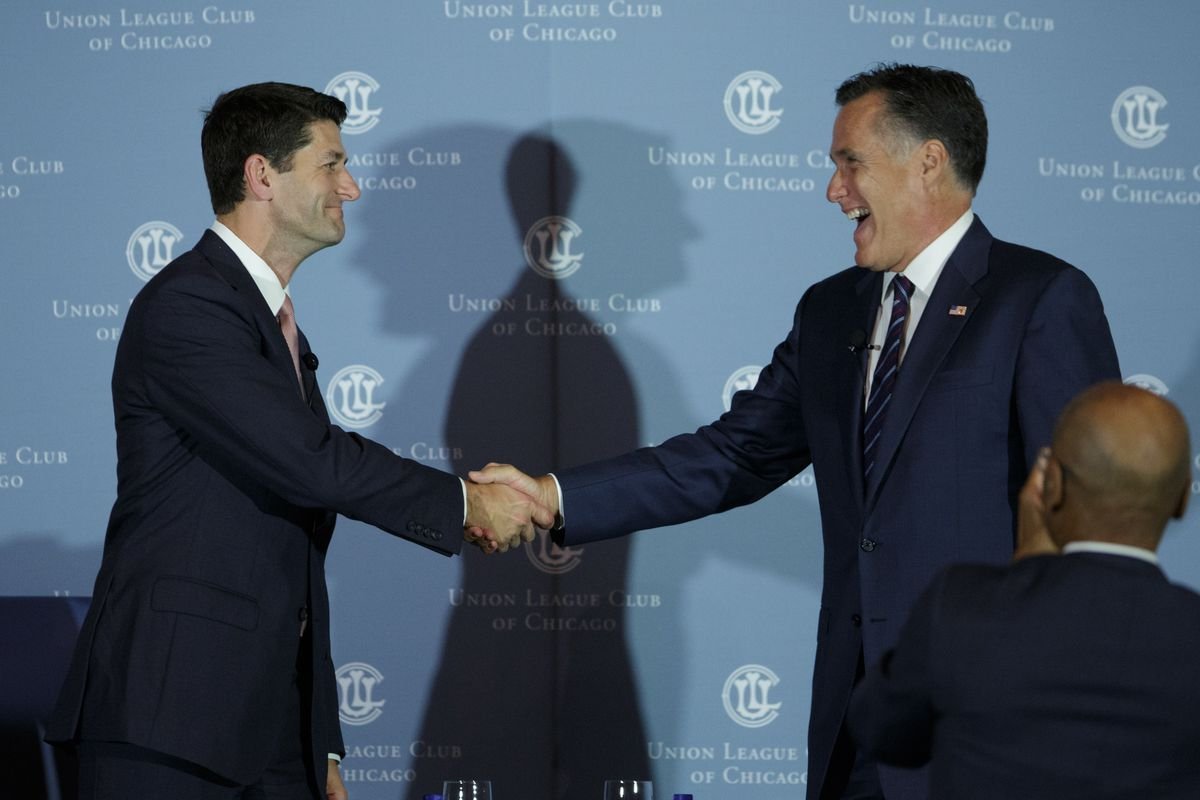 Paul Ryan, left, is now the most influential Republican in America, at least on domestic and economic policy.