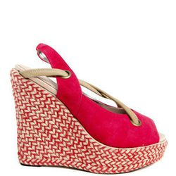 """<a href=""""http://blueandcream.com/w_Platforms/CRS12-6.html?source=shopstyle""""> Charlotte Ronson Josephine slingback wedge espadrille</a>, $225, blueandcream.com"""