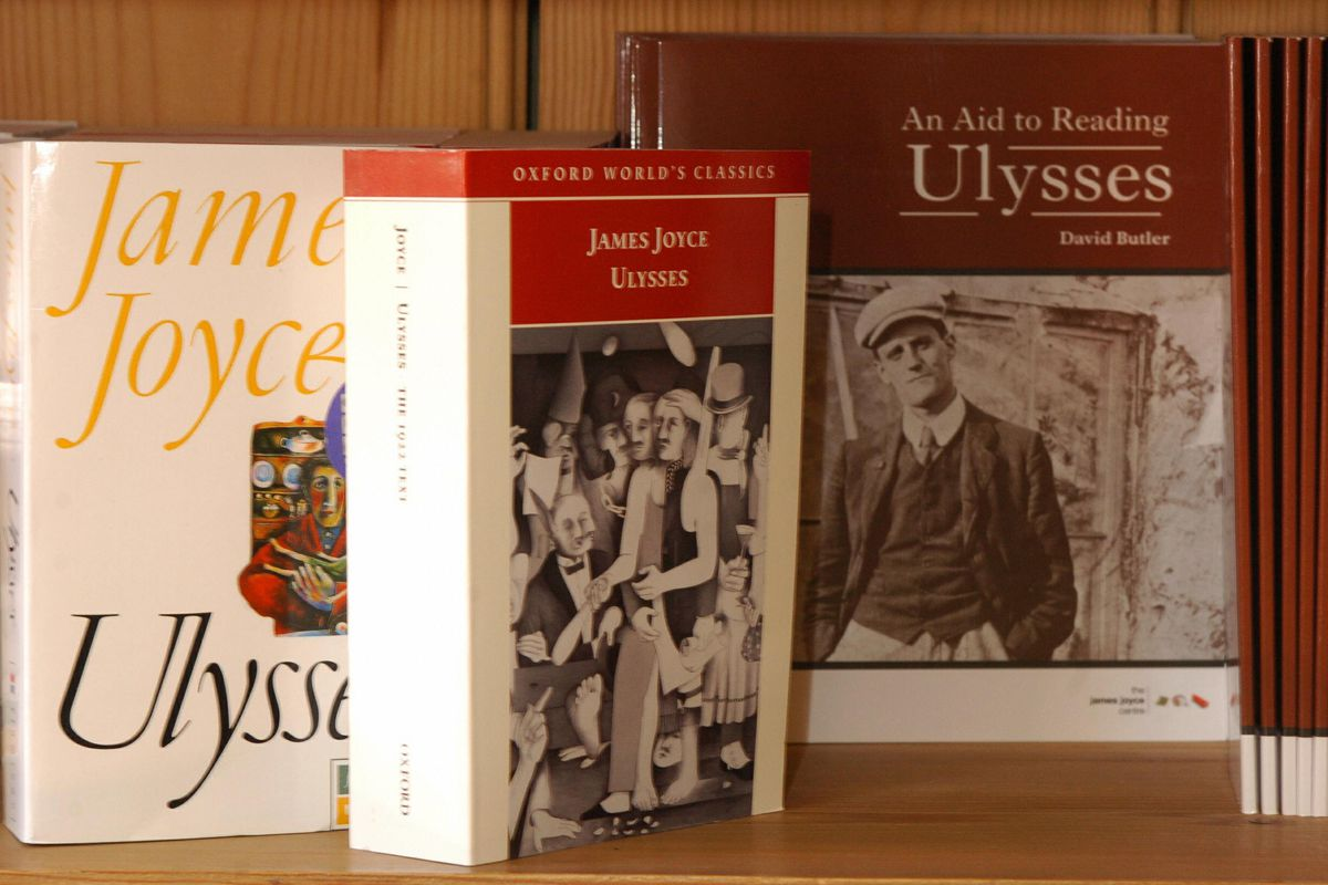 Copies of the famous literary masterpiece Ulysses by James Joyce.