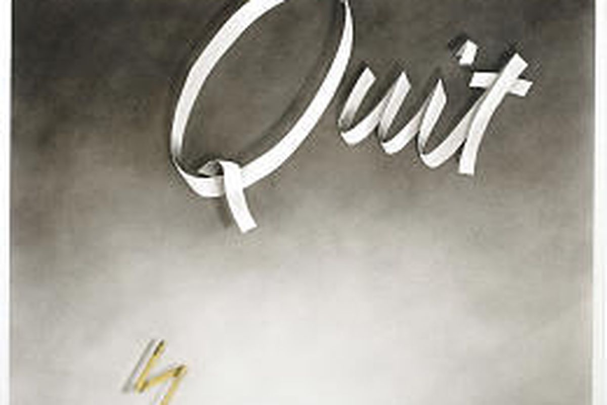 """""""Quit,"""" a 1967 drawing by Ed Ruscha, is among more than 200 Ruscha works from the past four decades on display at the Whitney."""