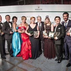 Winners of various awards at Placido Domingo's Operalia 2016.