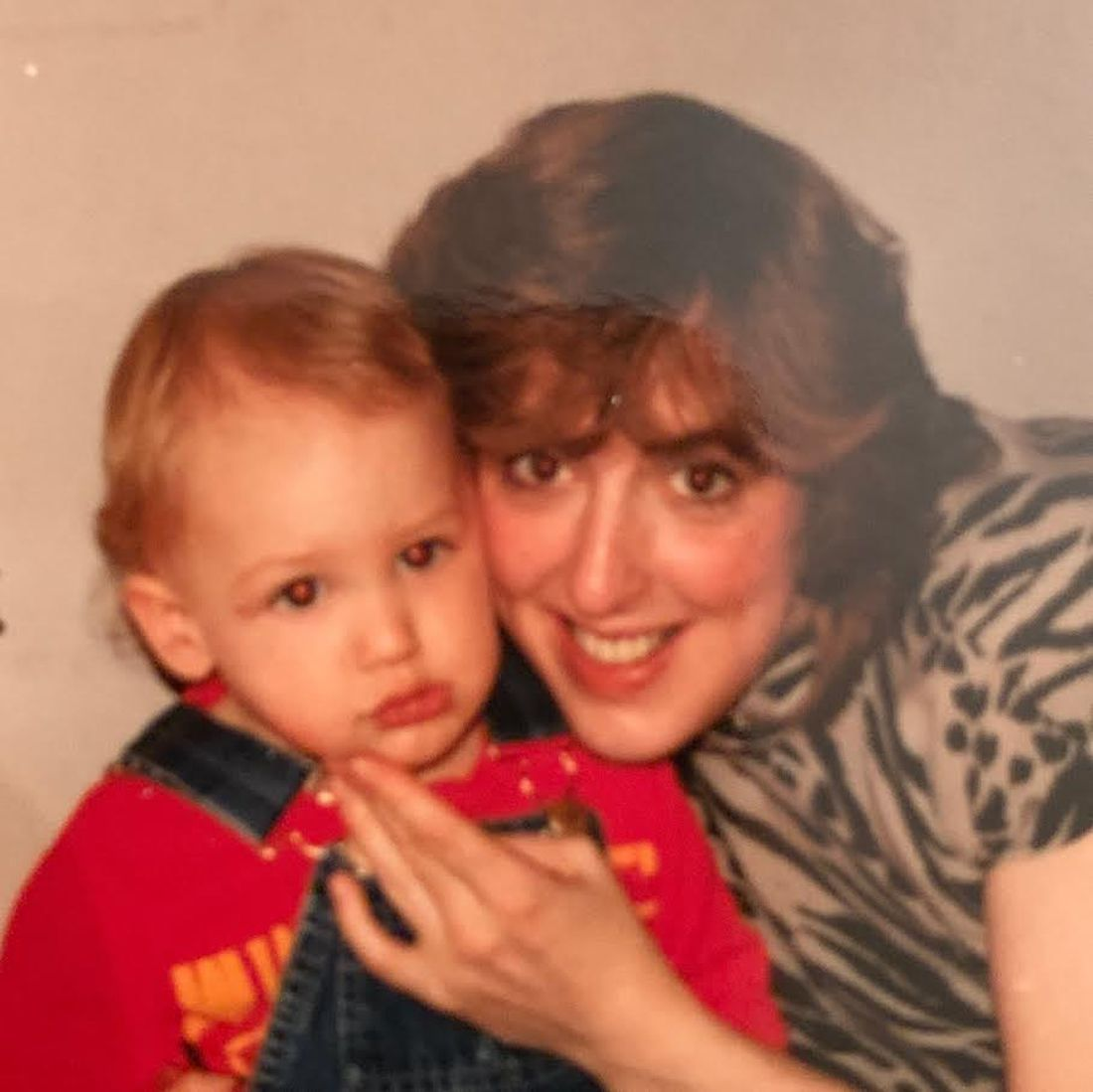 Janis Taylor with her nephew David Gorecki.