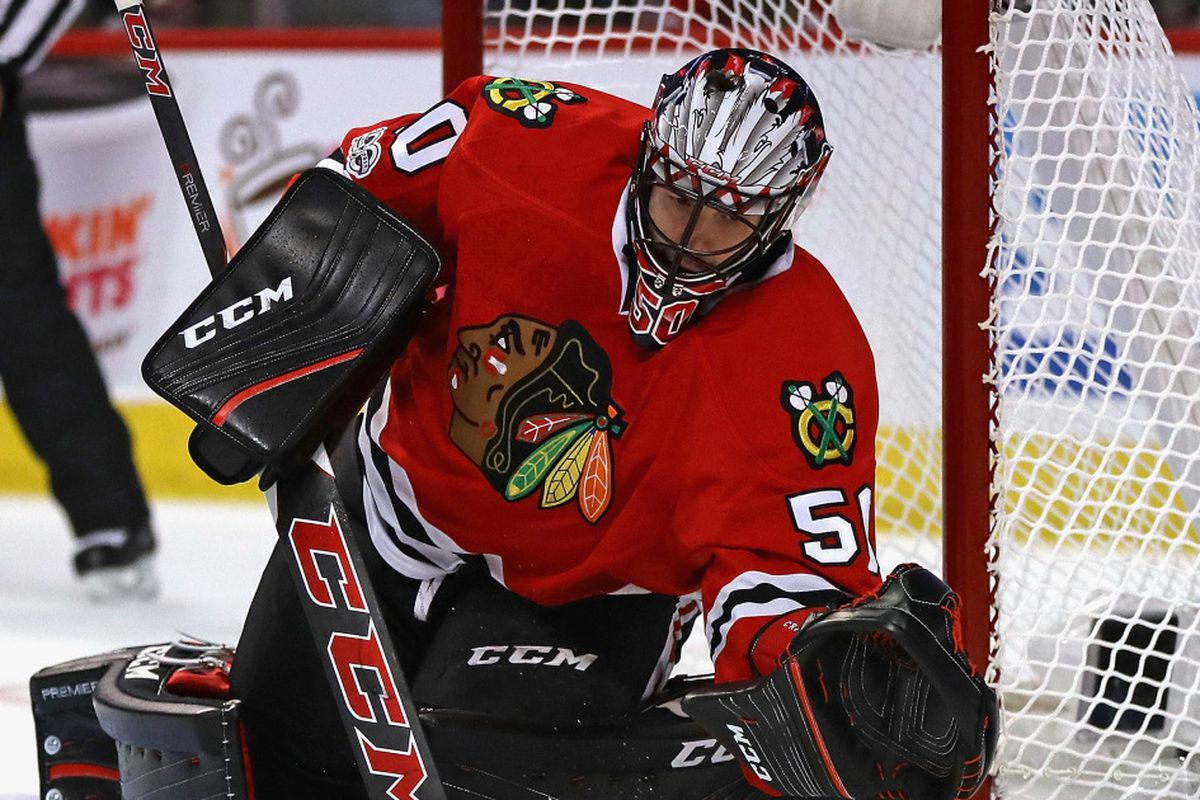 Nhl Network Snubs Crawford On Its Top 10 Goalies List Chicago Sun