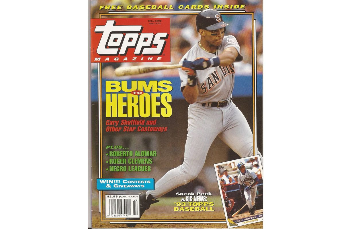 Blast From The Past Fall 1992 Topps Magazine Gaslamp Ball