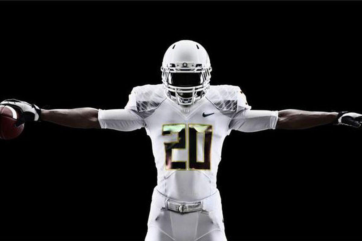 best cheap 506e4 6c4dd Oregon's Nike Pro Combat 'Storm trooper' uniforms for USC ...
