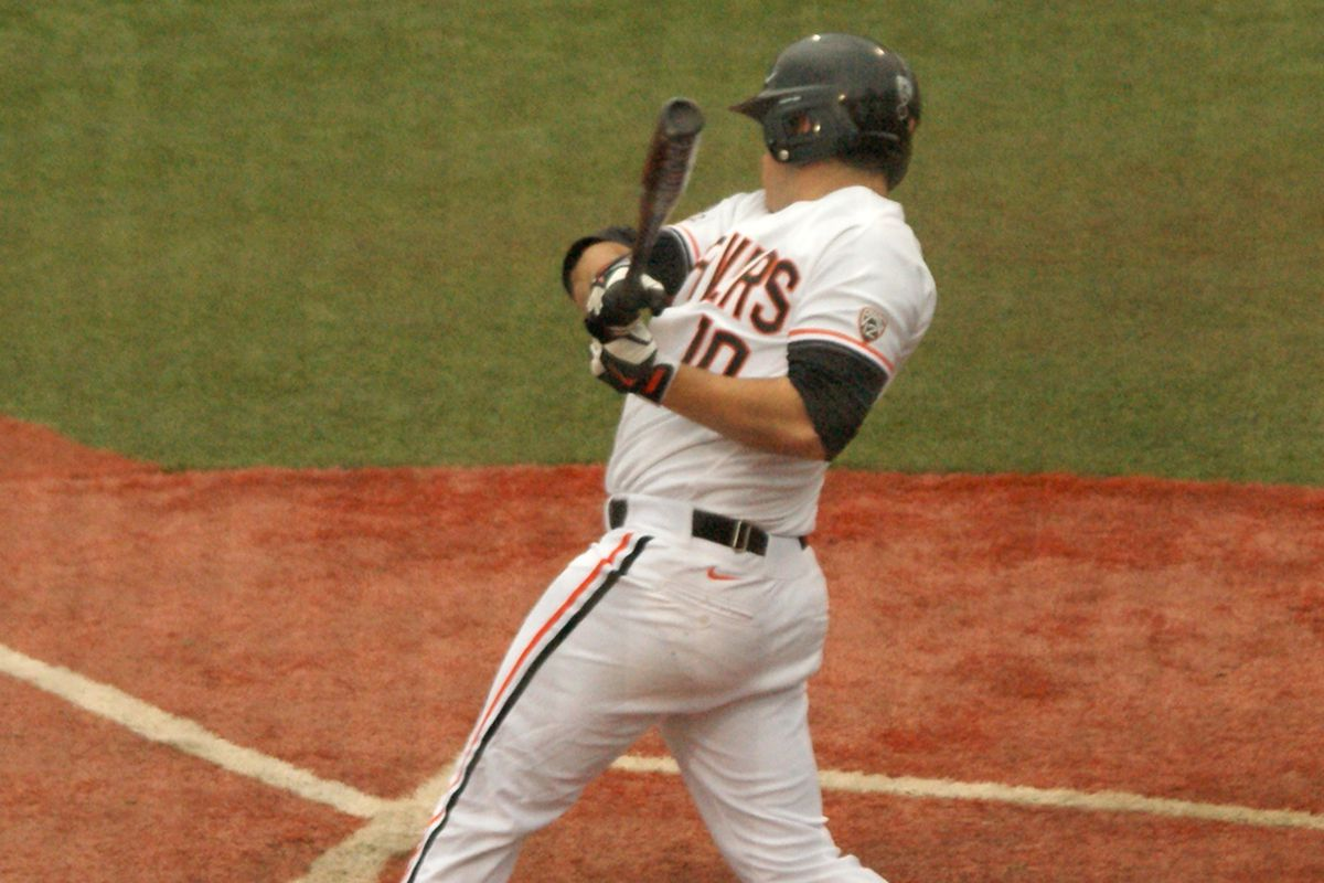 Dylan Davis has been one of Oregon St.'s best hitters this season, and enters the day hitting .395. Another great day at the plate would help make it another great day to be a Beaver.