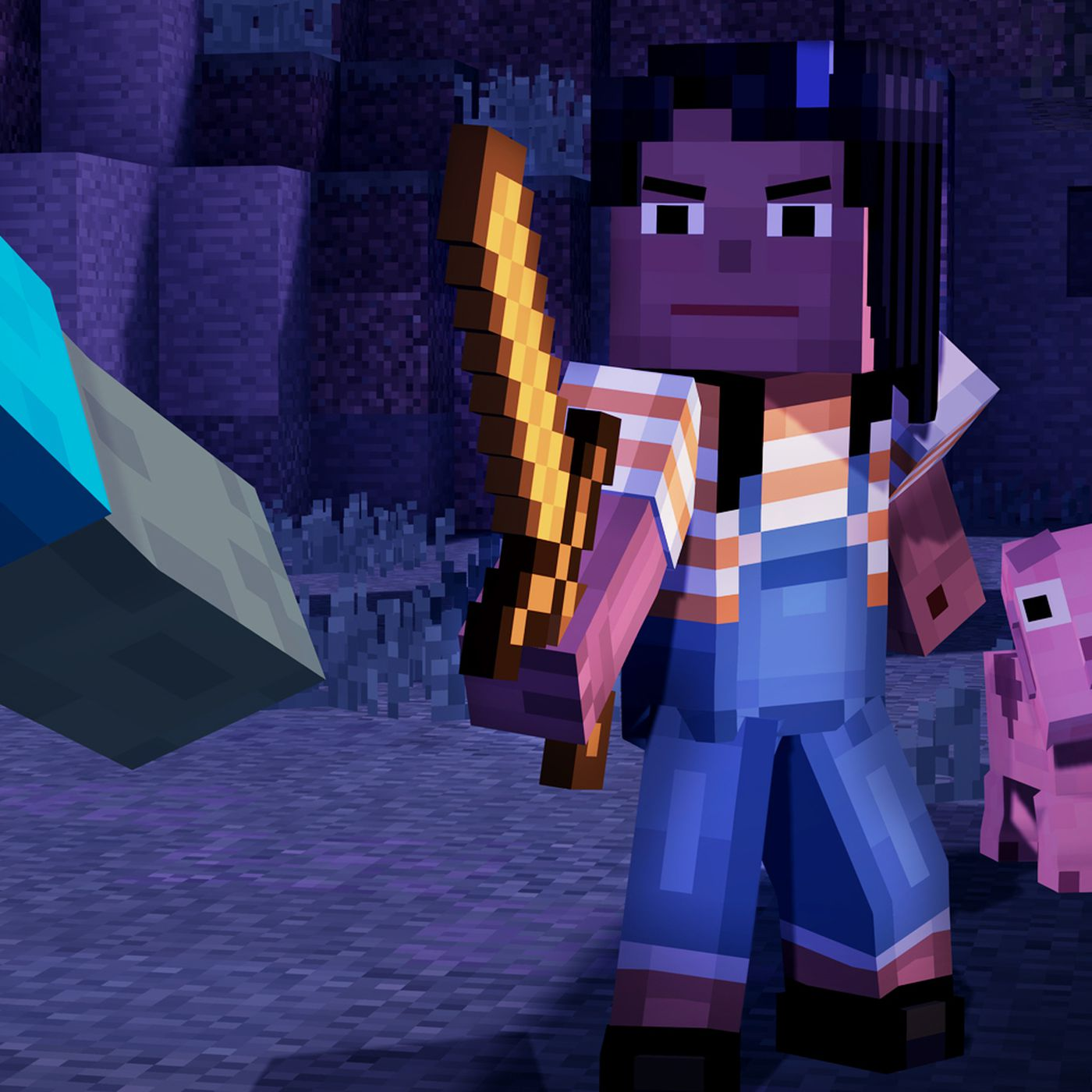 With Minecraft Story Mode Episodic Gaming Turns Family Friendly The Verge